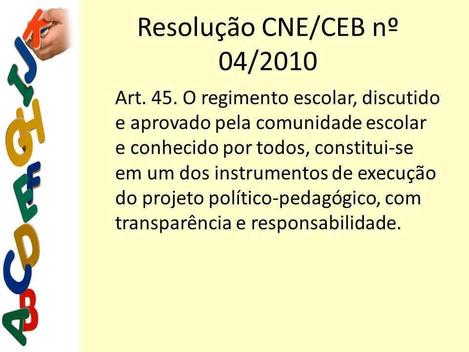 Resolução CNE/CEB nº 04/2010