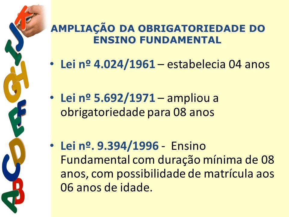 AMPLIAÇÃO DA OBRIGATORIEDADE DO ENSINO FUNDAMENTAL
