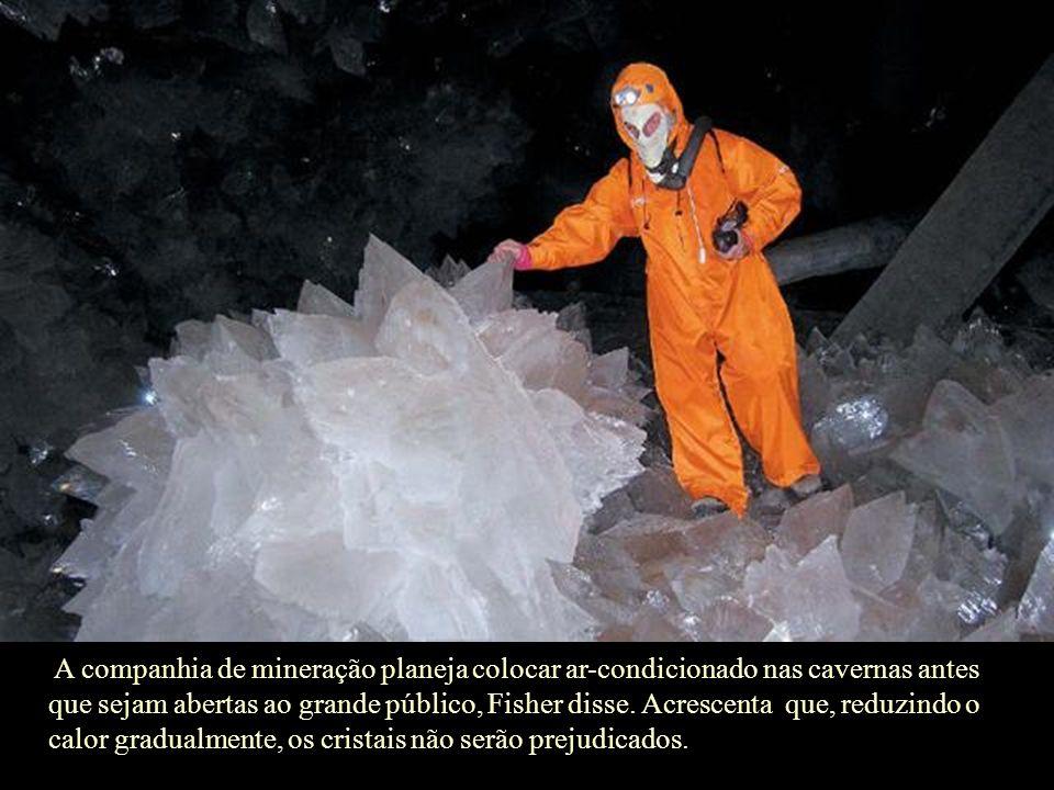 A companhia de mineração planeja colocar ar-condicionado nas cavernas antes que sejam abertas ao grande público, Fisher disse.