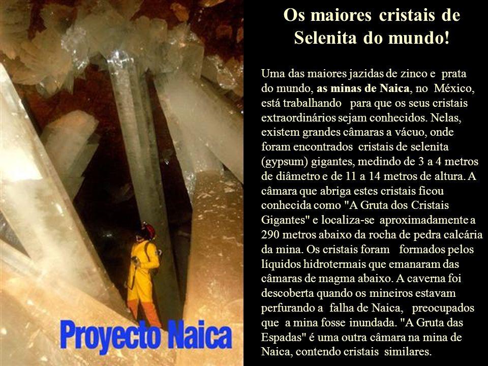 Os maiores cristais de Selenita do mundo!