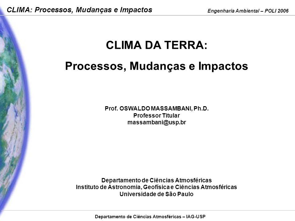 CLIMA DA TERRA: Processos, Mudanças e Impactos