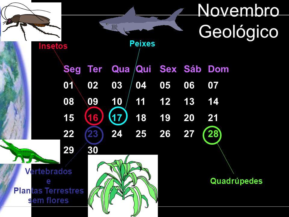 Novembro Geológico Seg Ter Qua Qui Sex Sáb Dom 01 02 03 04 05 06 07