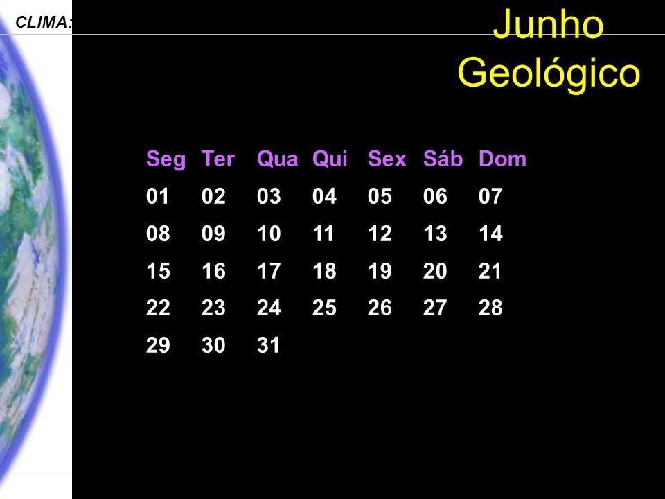 Junho Geológico Seg Ter Qua Qui Sex Sáb Dom 01 02 03 04 05 06 07