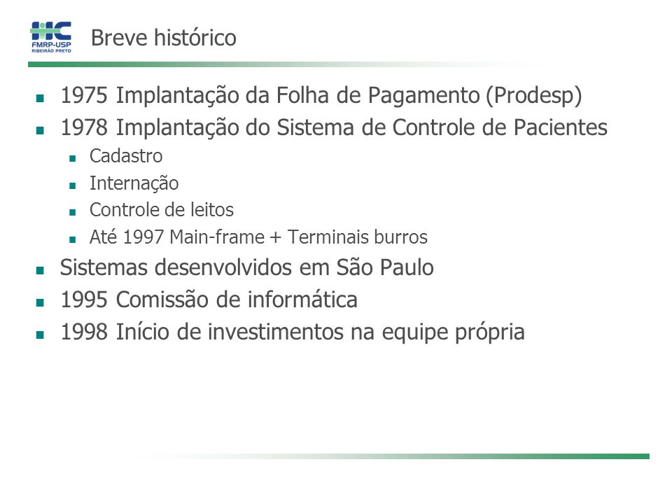 1975 Implantação da Folha de Pagamento (Prodesp)