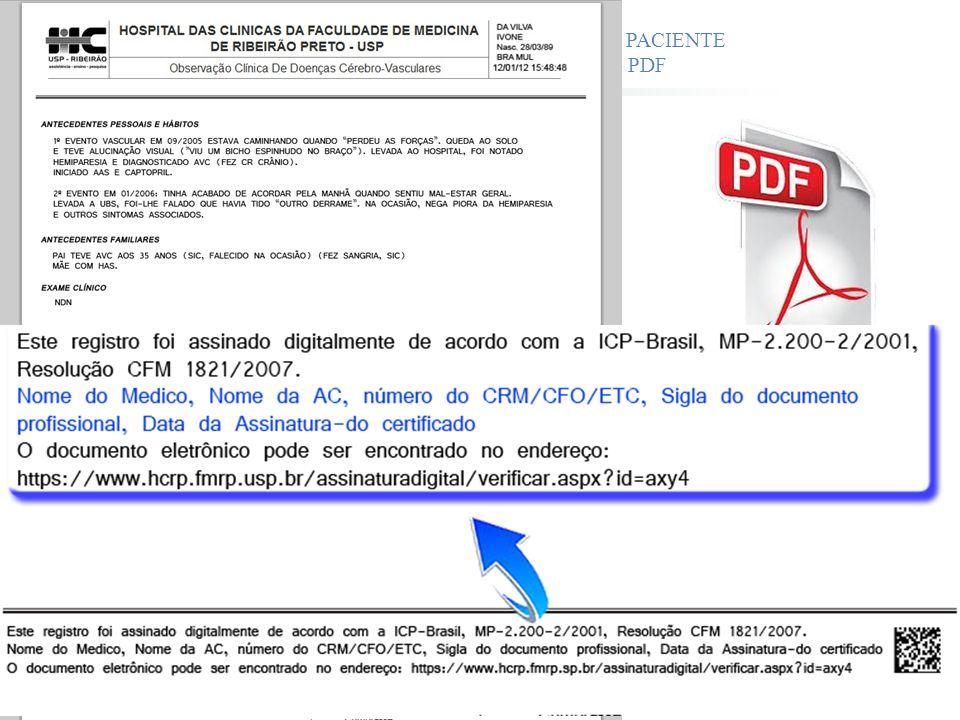 ATENDIMENTO CLÍNICO DO PACIENTE