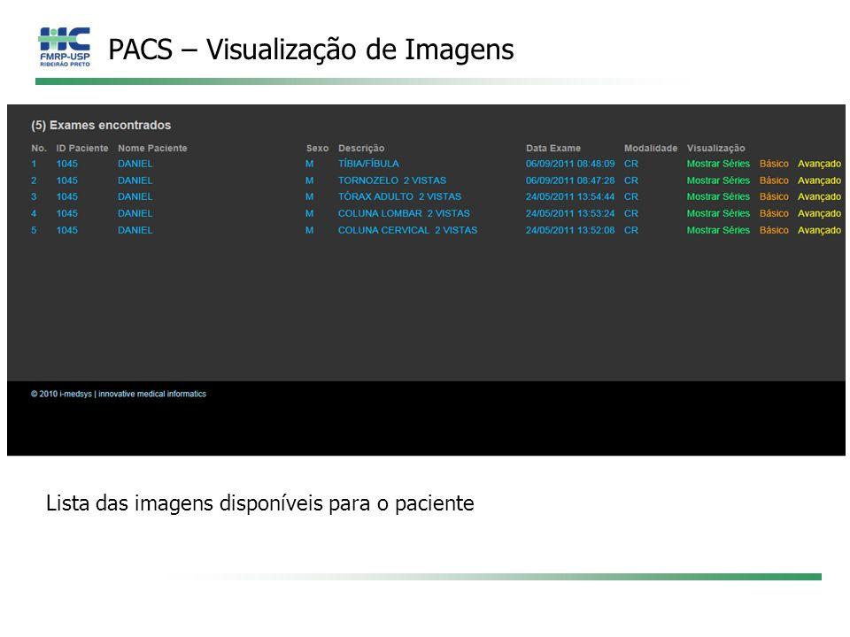 PACS – Visualização de Imagens
