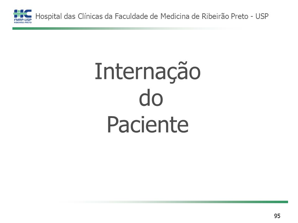 Internação do Paciente