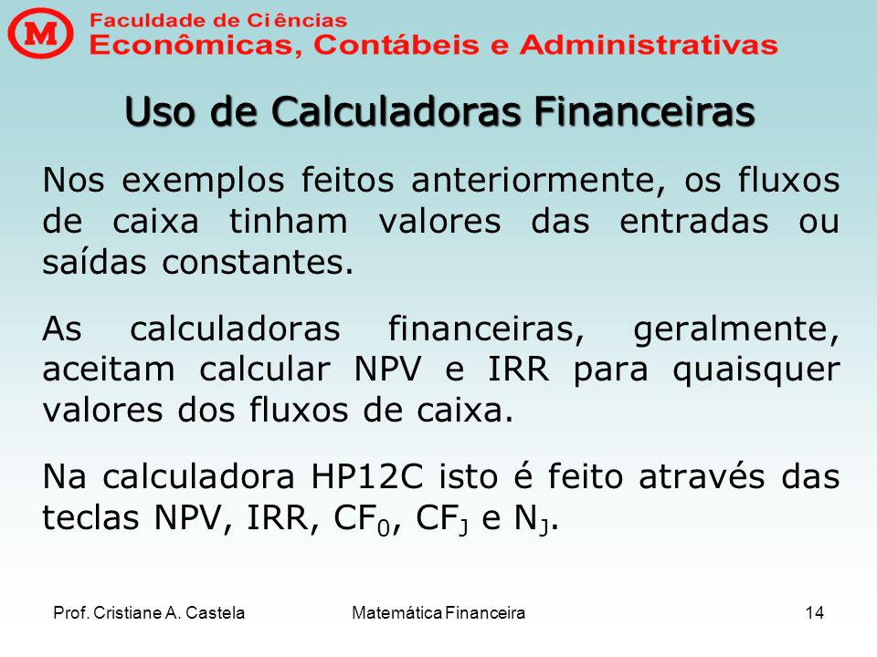 Uso de Calculadoras Financeiras
