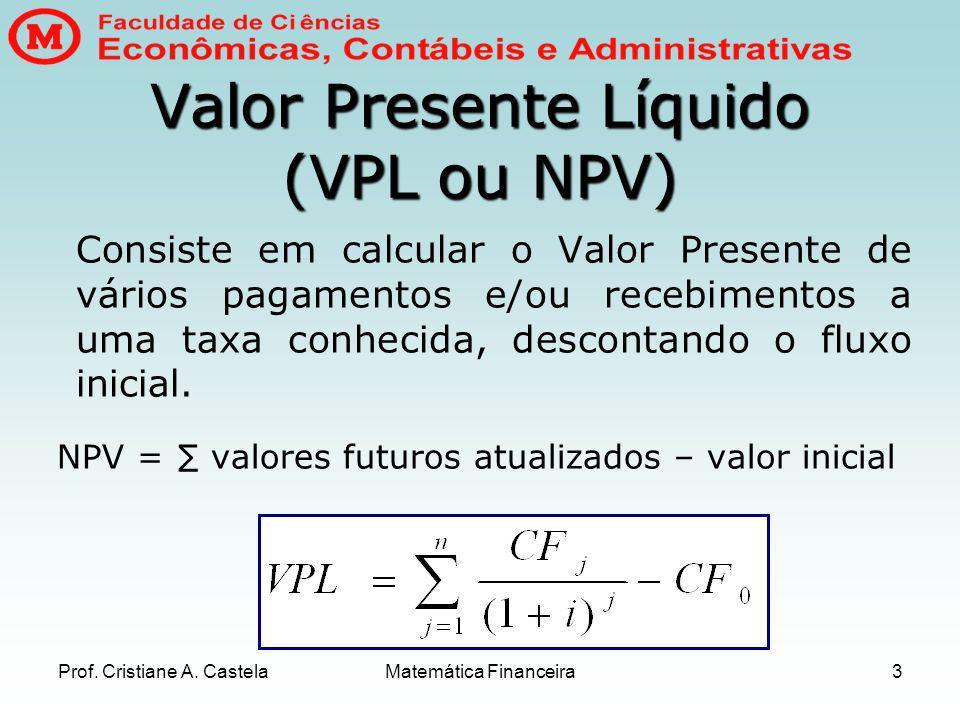 Valor Presente Líquido (VPL ou NPV)