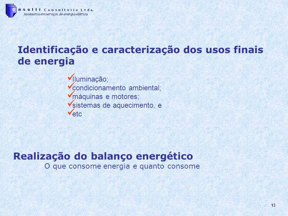 Identificação e caracterização dos usos finais de energia