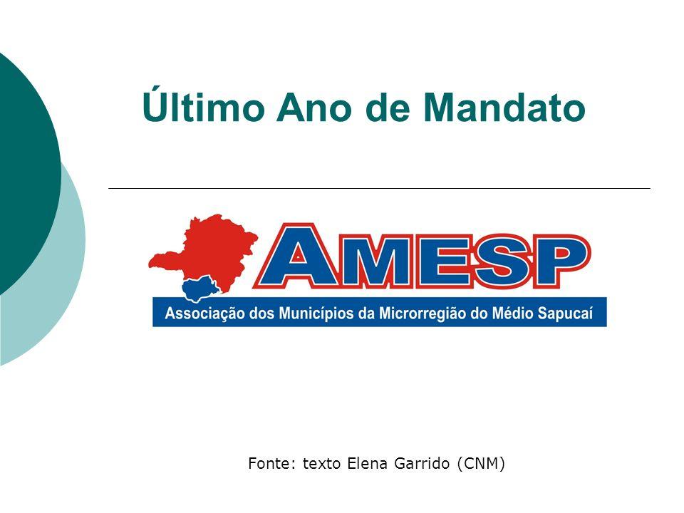 Fonte: texto Elena Garrido (CNM)