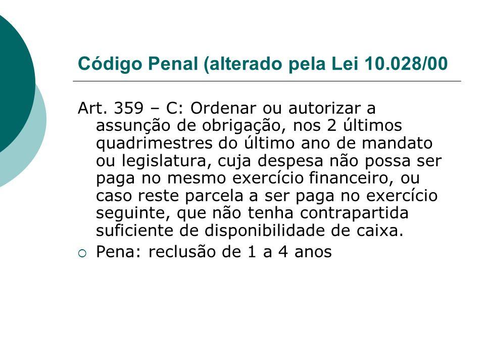 Código Penal (alterado pela Lei 10.028/00