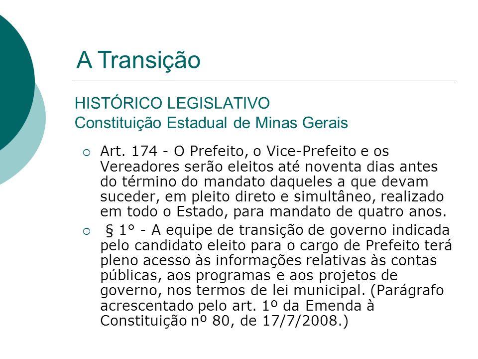 HISTÓRICO LEGISLATIVO Constituição Estadual de Minas Gerais
