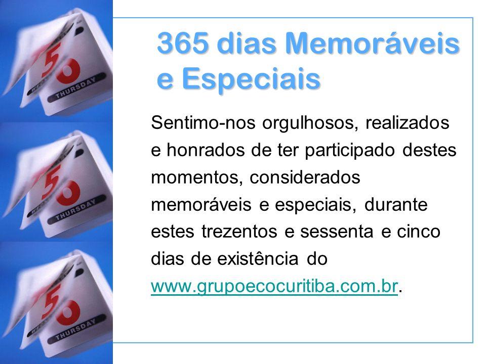 365 dias Memoráveis e Especiais