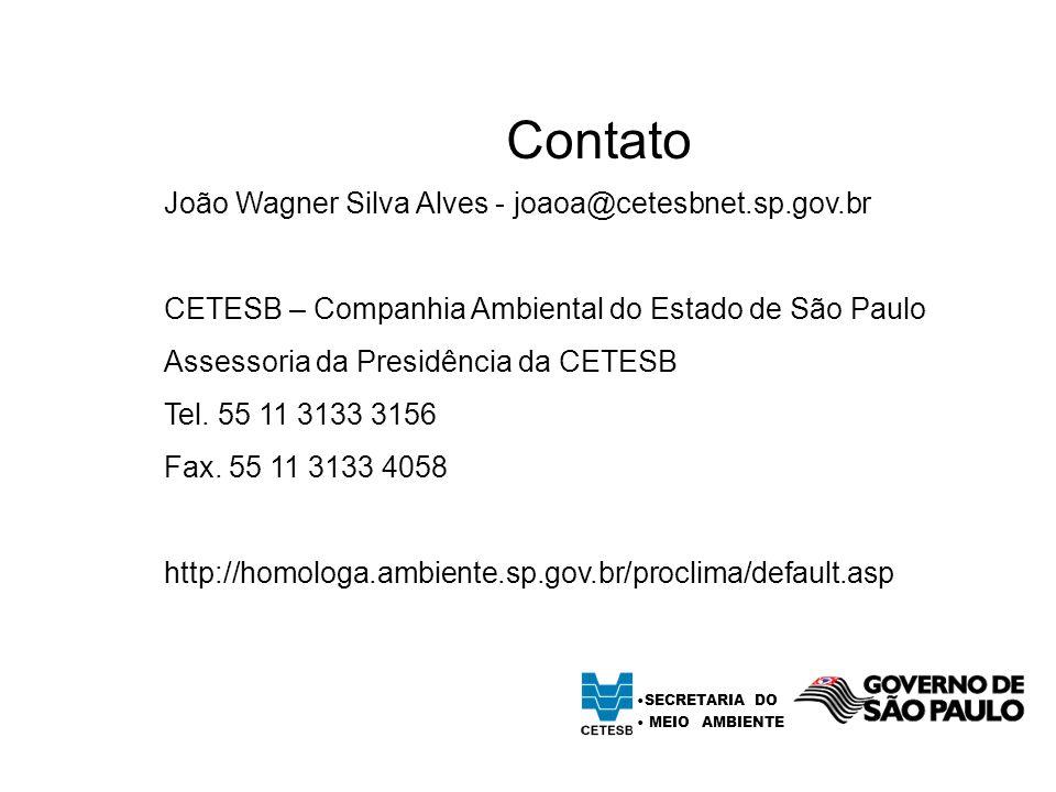 Contato João Wagner Silva Alves - joaoa@cetesbnet.sp.gov.br