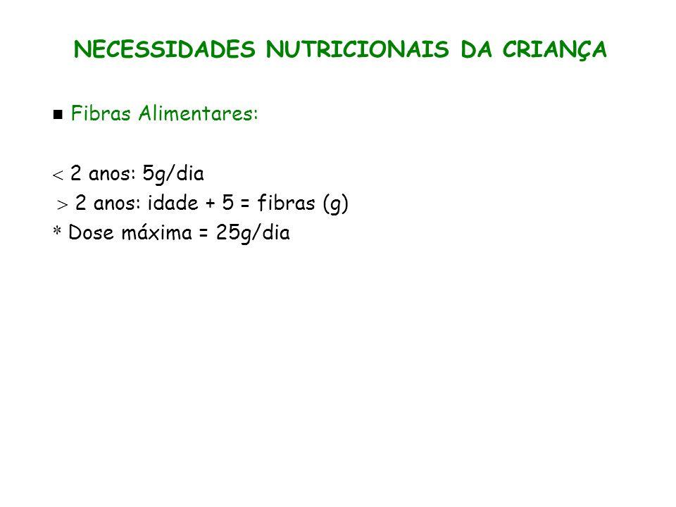 NECESSIDADES NUTRICIONAIS DA CRIANÇA