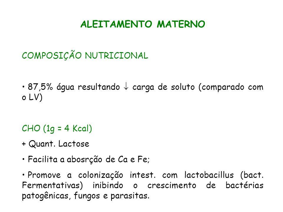 ALEITAMENTO MATERNO COMPOSIÇÃO NUTRICIONAL