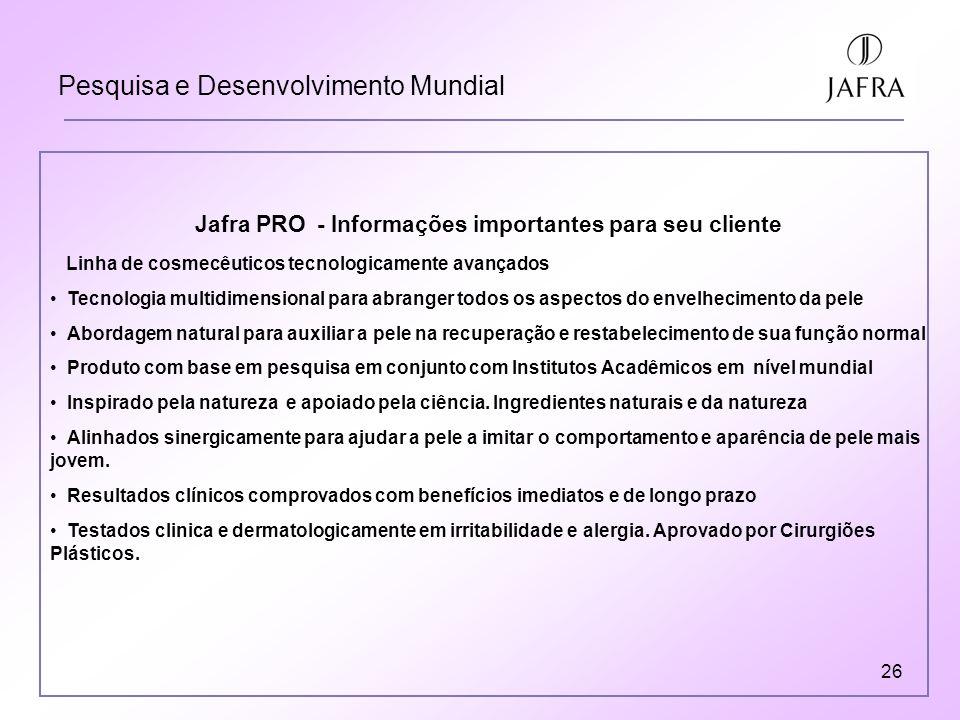 Jafra PRO - Informações importantes para seu cliente