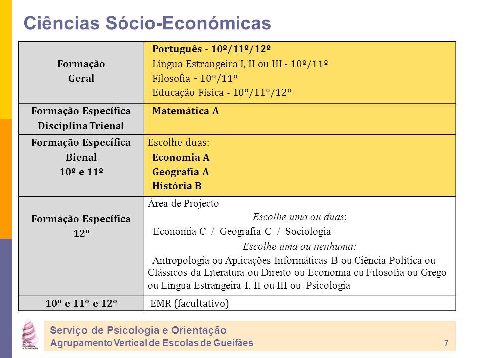 Ciências Sócio-Económicas