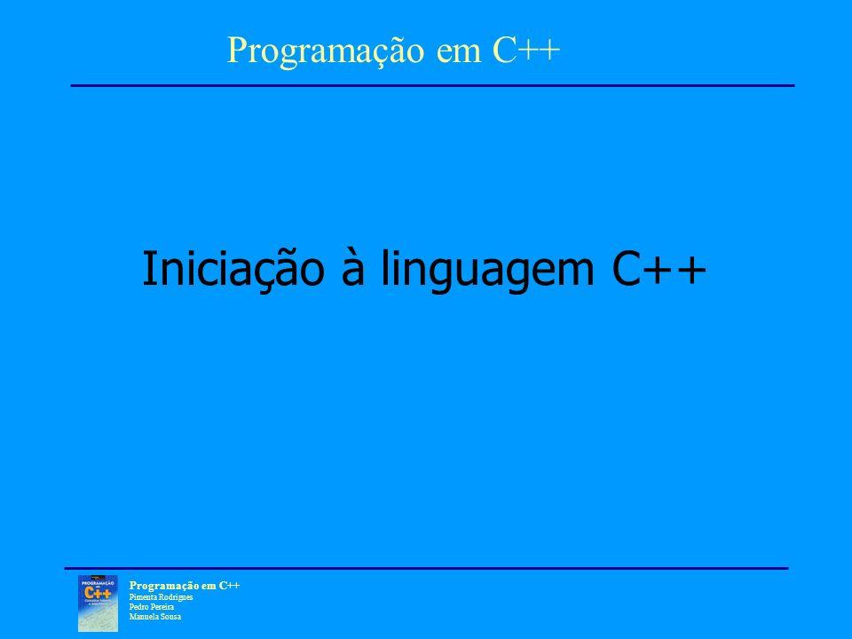 Iniciação à linguagem C++