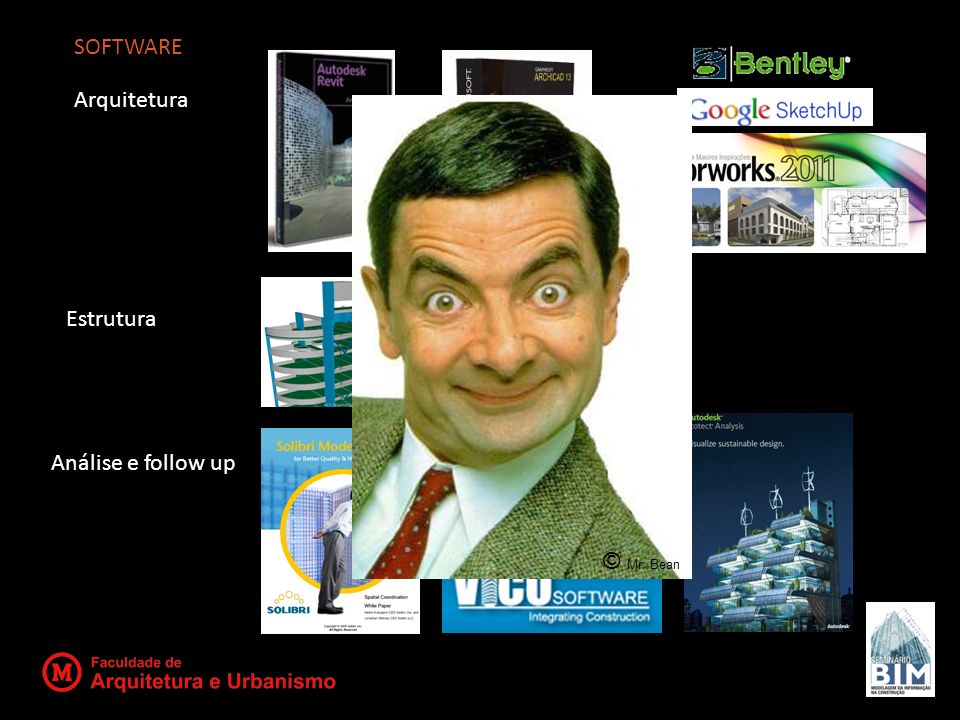 SOFTWARE Arquitetura Estrutura Análise e follow up © Mr. Bean