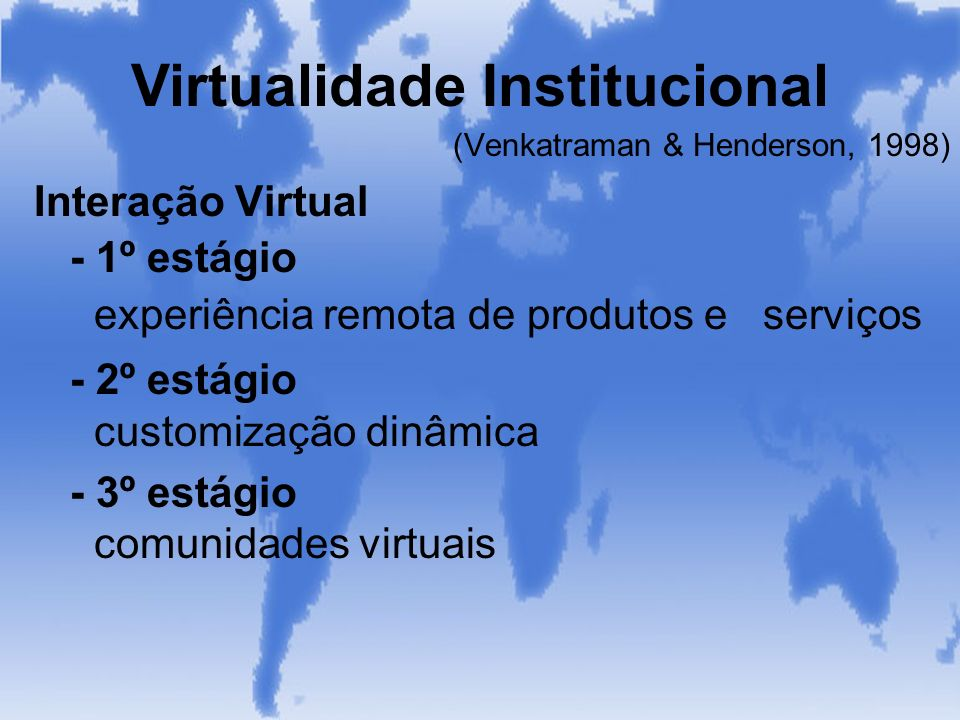 Virtualidade Institucional