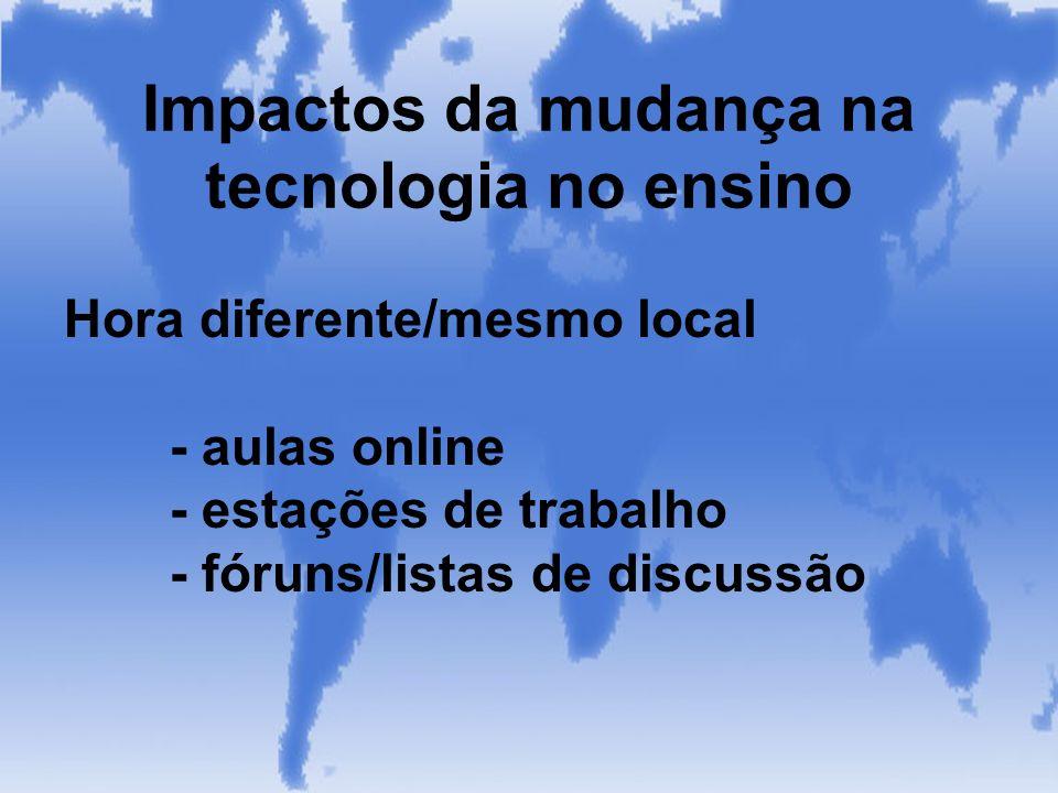 Impactos da mudança na tecnologia no ensino