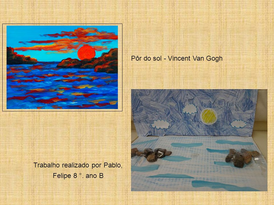 Pôr do sol - Vincent Van Gogh