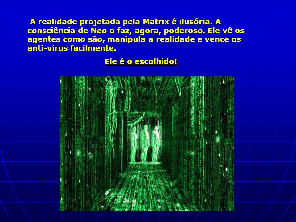 A realidade projetada pela Matrix é ilusória