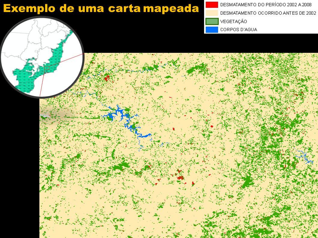 Exemplo de uma carta mapeada