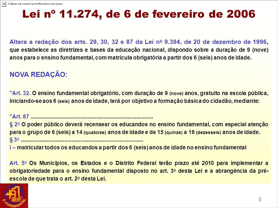 Lei nº 11.274, de 6 de fevereiro de 2006