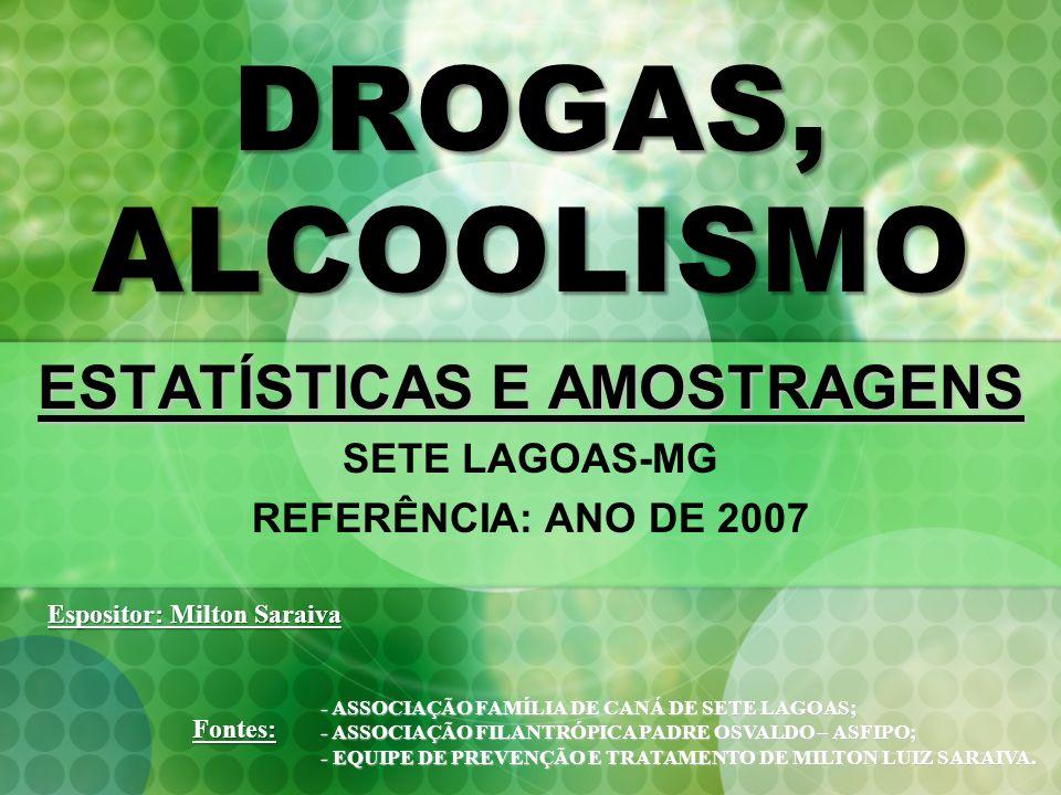 ESTATÍSTICAS E AMOSTRAGENS SETE LAGOAS-MG REFERÊNCIA: ANO DE 2007