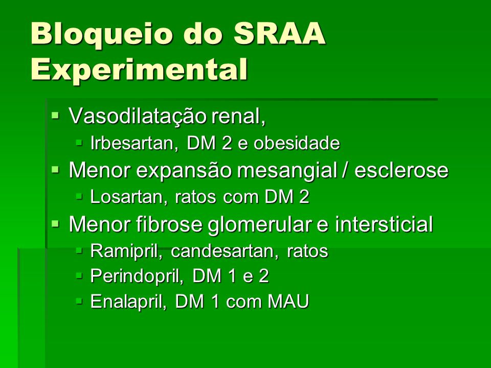 Bloqueio do SRAA Experimental