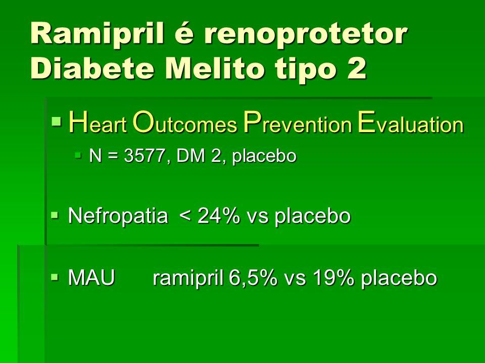 Ramipril é renoprotetor Diabete Melito tipo 2