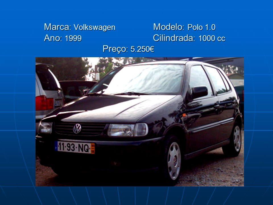 Marca: Volkswagen. Modelo: Polo 1. 0 Ano: 1999