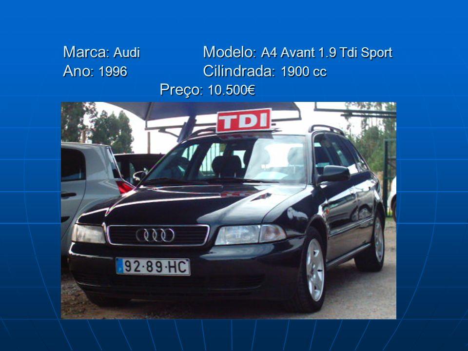 Marca: Audi. Modelo: A4 Avant 1. 9 Tdi Sport Ano: 1996