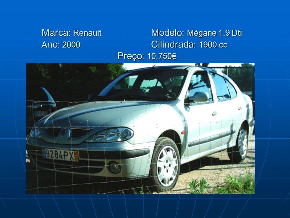 Marca: Renault. Modelo: Mégane 1. 9 Dti Ano: 2000