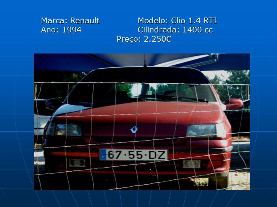 Marca: Renault. Modelo: Clio 1. 4 RTI Ano: 1994