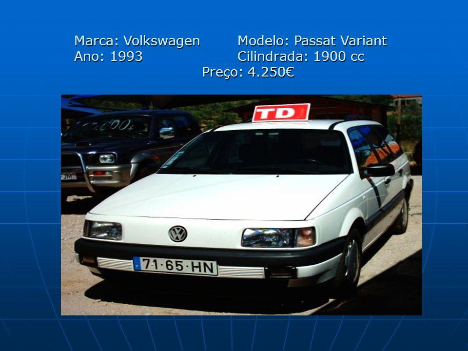 Marca: Volkswagen. Modelo: Passat Variant Ano: 1993