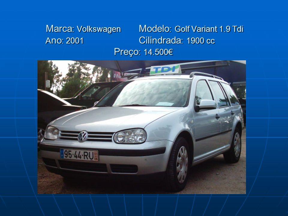 Marca: Volkswagen. Modelo: Golf Variant 1. 9 Tdi Ano: 2001