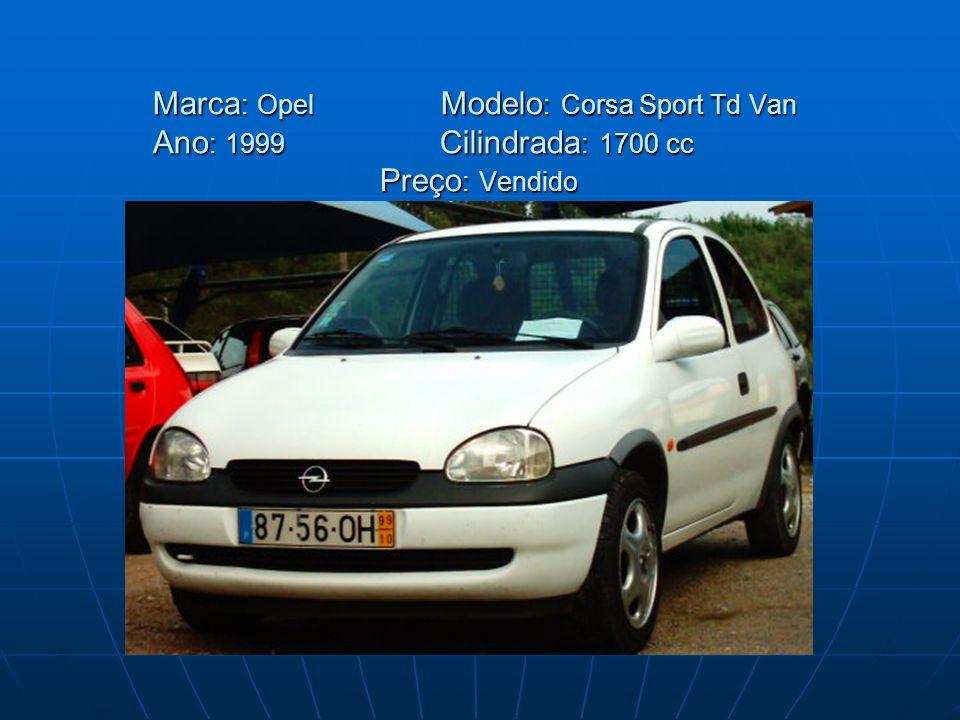 Marca: Opel. Modelo: Corsa Sport Td Van Ano: 1999