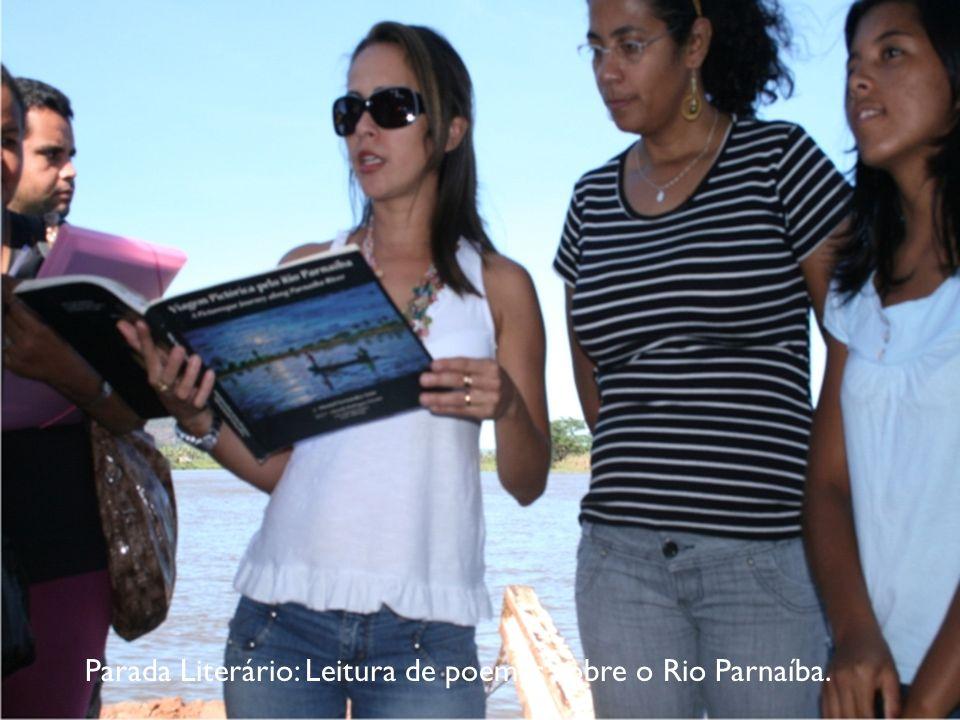 Parada Literário: Leitura de poemas sobre o Rio Parnaíba.