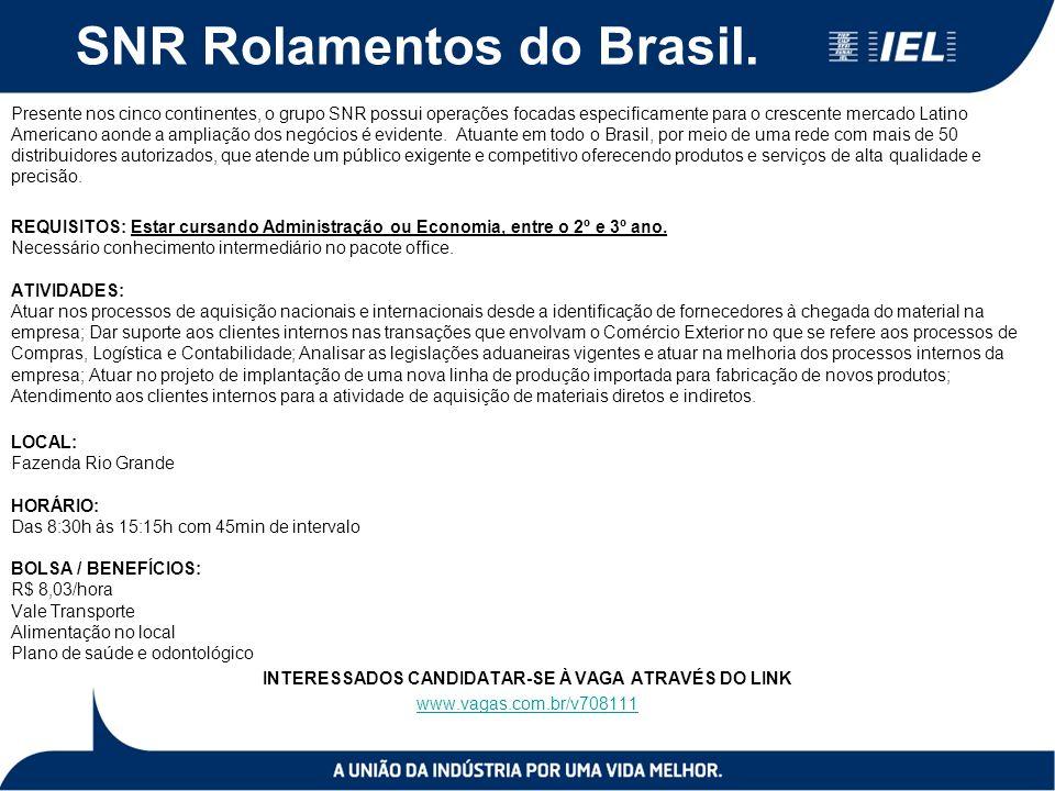 SNR Rolamentos do Brasil.