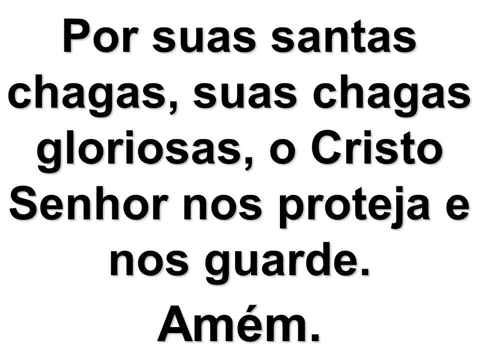 Por suas santas chagas, suas chagas gloriosas, o Cristo Senhor nos proteja e nos guarde.