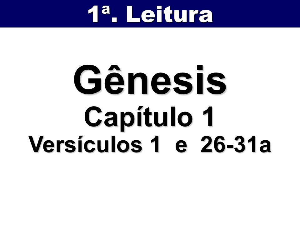1ª. Leitura Gênesis Capítulo 1 Versículos 1 e 26-31a
