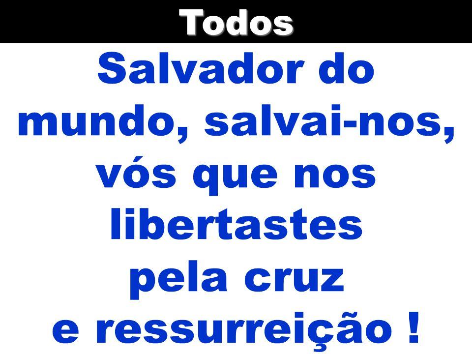 Todos Salvador do mundo, salvai-nos, vós que nos libertastes pela cruz e ressurreição !