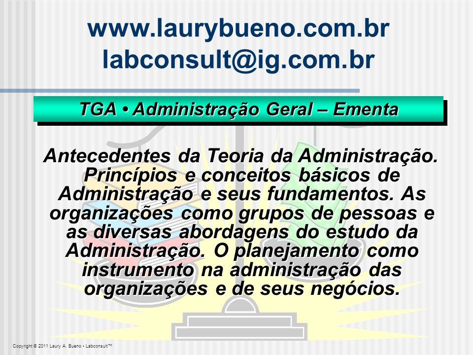 TGA • Administração Geral – Ementa
