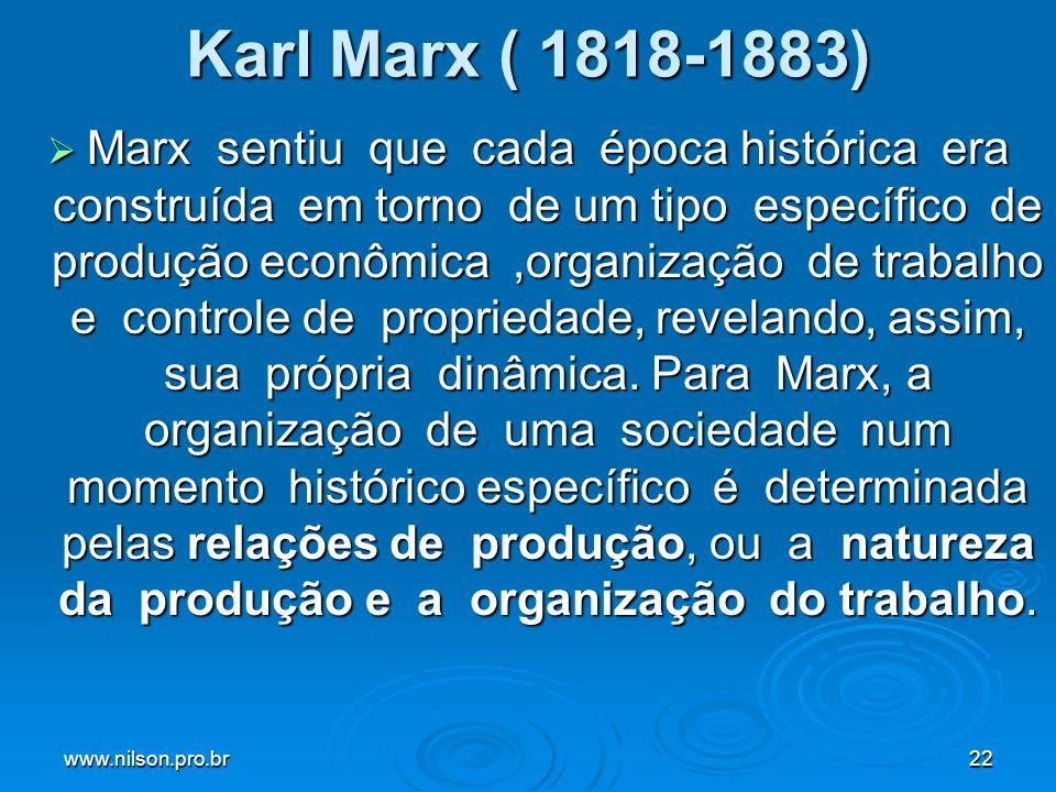 Karl Marx ( 1818-1883)
