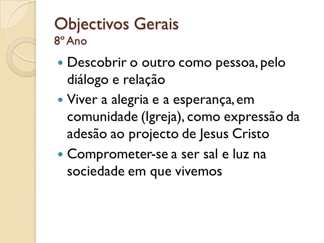 Objectivos Gerais 8º Ano