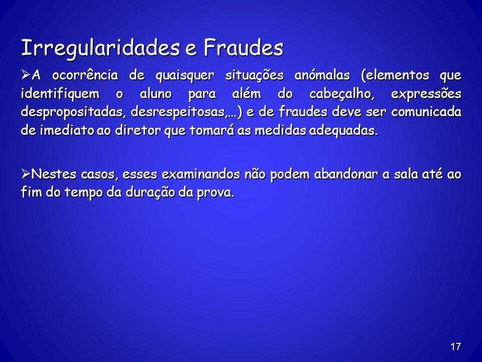 Irregularidades e Fraudes